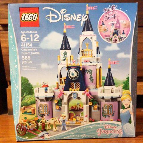 韩商言同款!Lego乐高灰姑娘的梦幻城堡41154 585粒 6-12岁