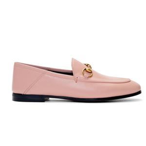 Gucci 粉色乐福鞋