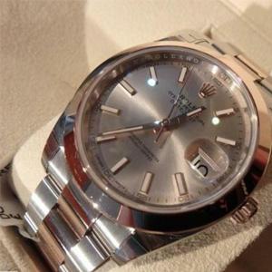 ROLEX劳力士Datejust 41系列Sundust 126301SNSO 18K玫瑰金男士机械腕表