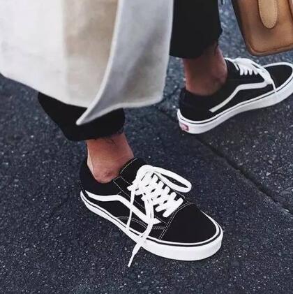 码全!Vans范斯 ward lo大童款黑色板鞋