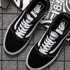 尺码补全!Vans范斯 ward lo大童款板鞋  黑色