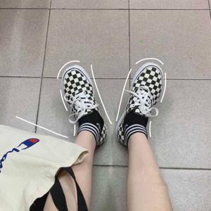 Vans 万斯 Authentic 经典黑白棋盘格帆布鞋