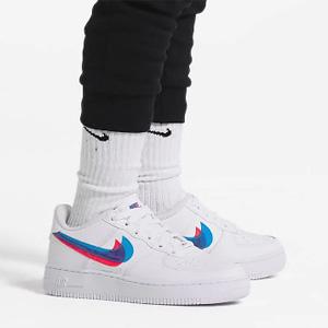 Nike Air Force 1 LV8红蓝双勾大童款