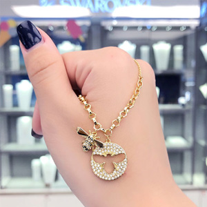 Swarovski施华洛世奇18新款金色小蜜蜂项链 5365641
