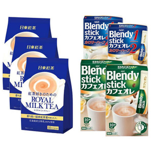 AGF 三合一原味牛奶咖啡原味欧蕾2包+微糖牛奶咖啡2包+日东奶茶 原味3包