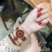 Anne Klein安妮·克莱因  AK/3286BYST 手表手链套装 玫瑰金色