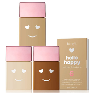 Benefit贝玲妃hello happy soft blur 笑脸粉底液