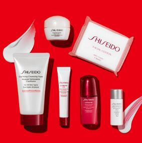 折扣升级!Shiseido资生堂美国官网满$75赠送7件套豪华礼包