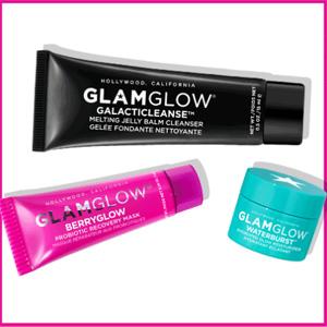 Glam Glow英国官网全场满£30自选三件套赠品