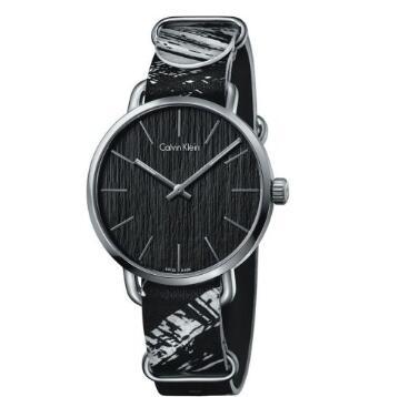 Calvin Klein 卡尔文·克莱因 Even 系列 黑色男士时装腕表 K7B211L1