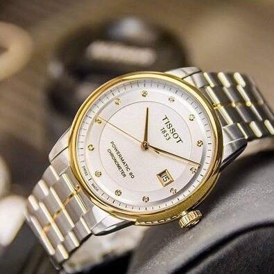 Tissot 天梭 Luxury 系列 金银双色男士气质腕表 T086.408.22.036.00