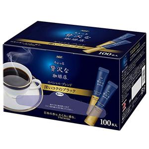 AGF 奢华特选混合口味速溶无奶无糖纯黑咖啡粉 100条