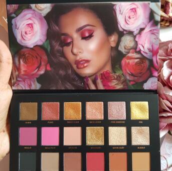 HUDA BEAUTY Rose Gold玫瑰金2代18色眼影盘