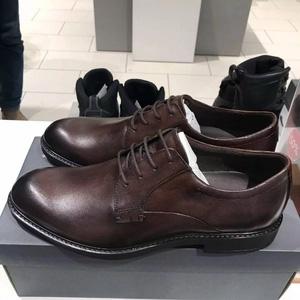 全码好价!ECCO爱步 19年秋款 Vitrus III 唯图系列 男士真皮牛津鞋640504