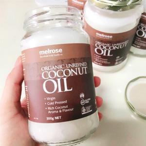 范冰冰推荐!Melrose 有机精制冷榨椰子油 300g (可食用/护肤等多重功效)
