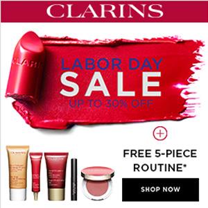 Clarins美国官网Labor Day劳工节精选护肤低至7折促销