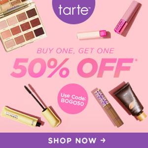 Tarte美国官网Labor Day劳工节全场彩妆护肤第二件半价促销