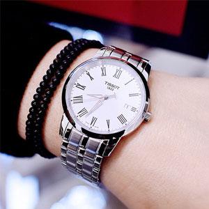 Tissot天梭T-Classic系列银色男士气质腕表T0334101101301