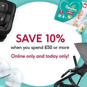 Boots英国官网现有购买婴幼儿产品满£50额外9折优惠
