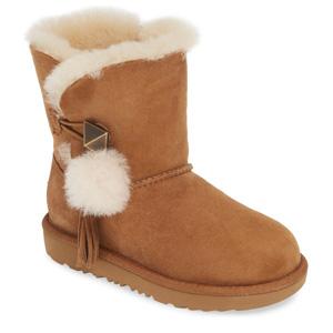 UGG 毛球大童款中筒雪地靴
