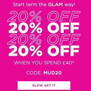 Glam Glow英国官网全场满£40额外8折促销