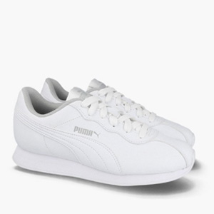 Puma 彪马Turin II 大童款 皮面小白鞋