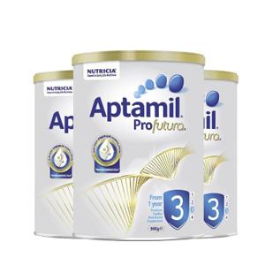 新低!Aptamil爱他美 白装奶粉 3阶*3罐装