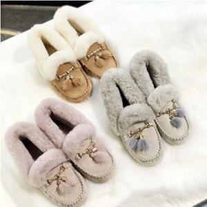 一件免邮!UGG Australia OZWEAR 女士羊毛豆豆鞋流苏款