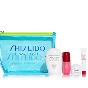 Shiseido白胖子防晒四件套装