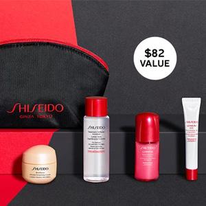 Shiseido资生堂官网满$100送5件套礼包