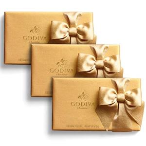 变相买三免一!Godiva歌帝梵官网8块装巧克力礼盒*3
