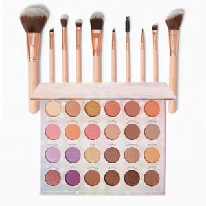 BH Cosmetics 粉色化妆刷+Opalescent眼影盘套装