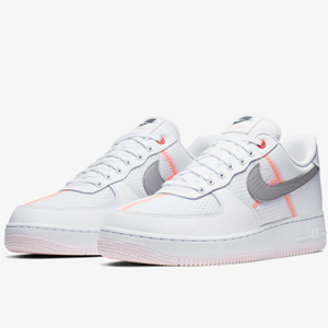 限UK5.5码!NIKE AIR FORCE 1 LO 空军一号 粉白灰板鞋