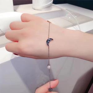 Swarovski施华洛世奇 蓝色珍珠星月手链5490934