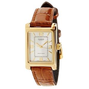 CASIO卡西欧 LTP-1234PGL-7A女士皮革表带石英手表
