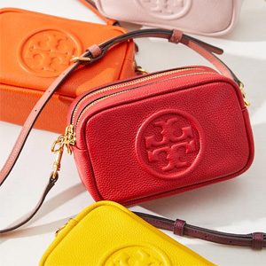 Tory Burch PERRY BOMBÉ双拉链mini相机包 多色