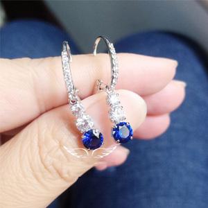 Swarovski施华洛世奇 蓝色三颗水晶耳环 5416154