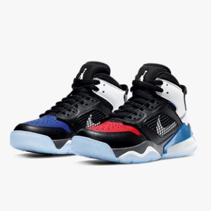 新低价!Jordan Mars 270气垫红蓝鸳鸯大童款篮球鞋