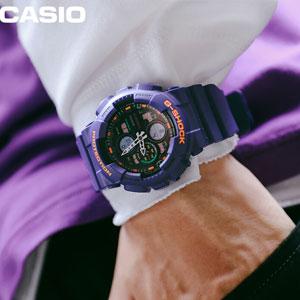 19年夏季新款!Casio卡西欧G-Shock系列GA-140-6AER男士多功能防水石英手表