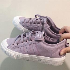 adidas Originals三叶草Nizza女士香芋紫板鞋