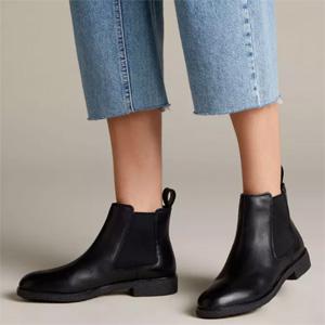 Clarks其乐 Griffin Plaza 女士真皮切尔西短靴 多色可选