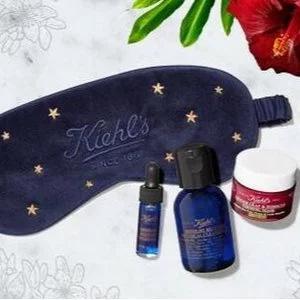 Kiehl's科颜氏美国官网满$75送睡眠眼罩+夜间护理3件套