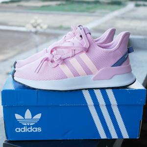 Adidas Originals U _ PATH女款粉色运动鞋