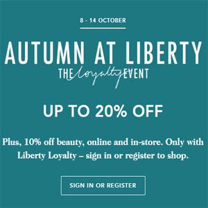 英国Liberty London百货全场美妆护肤低至8折促销