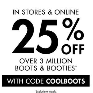 DSW 现有精选鞋靴额外7.5折促销