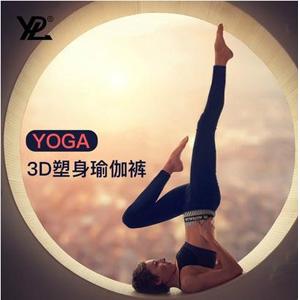 YPL 3D塑身瑜伽裤 Yoga加赠美肩运动背心