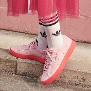 杨幂同款!Adidas Sleek 粉色鞋底运动鞋
