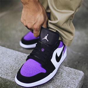大码福利!Jordan AJ 1 Mid大童运动鞋