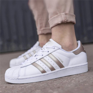 Adidas阿迪达斯Superstar女款玫瑰金贝壳头