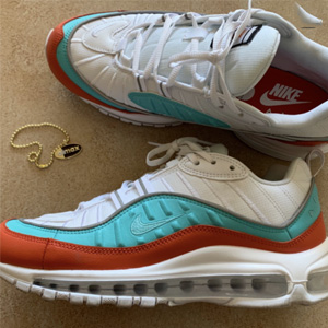 Nike耐克 Air Max 98 SE 橙黄全掌气垫女款休闲鞋